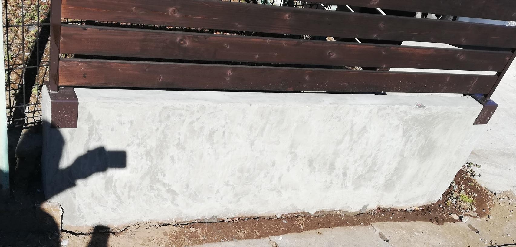 汚いブロック塀をカッコ良くDIY