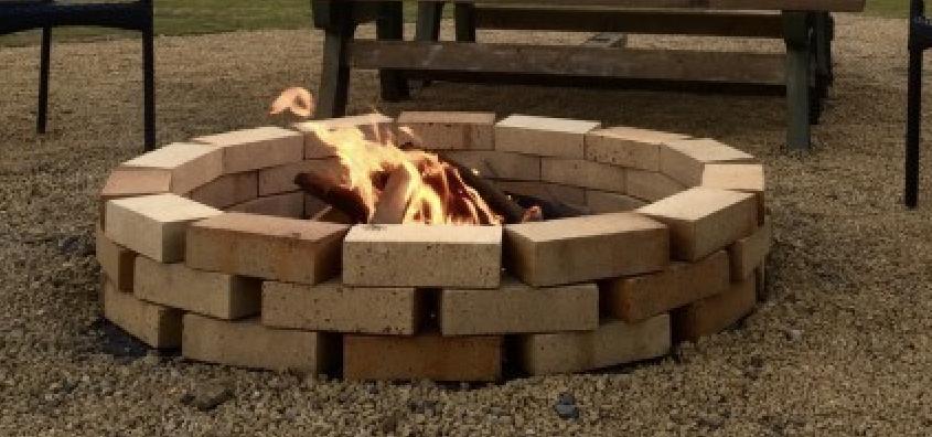 庭で焚き火!! ファイアーピット作りました!