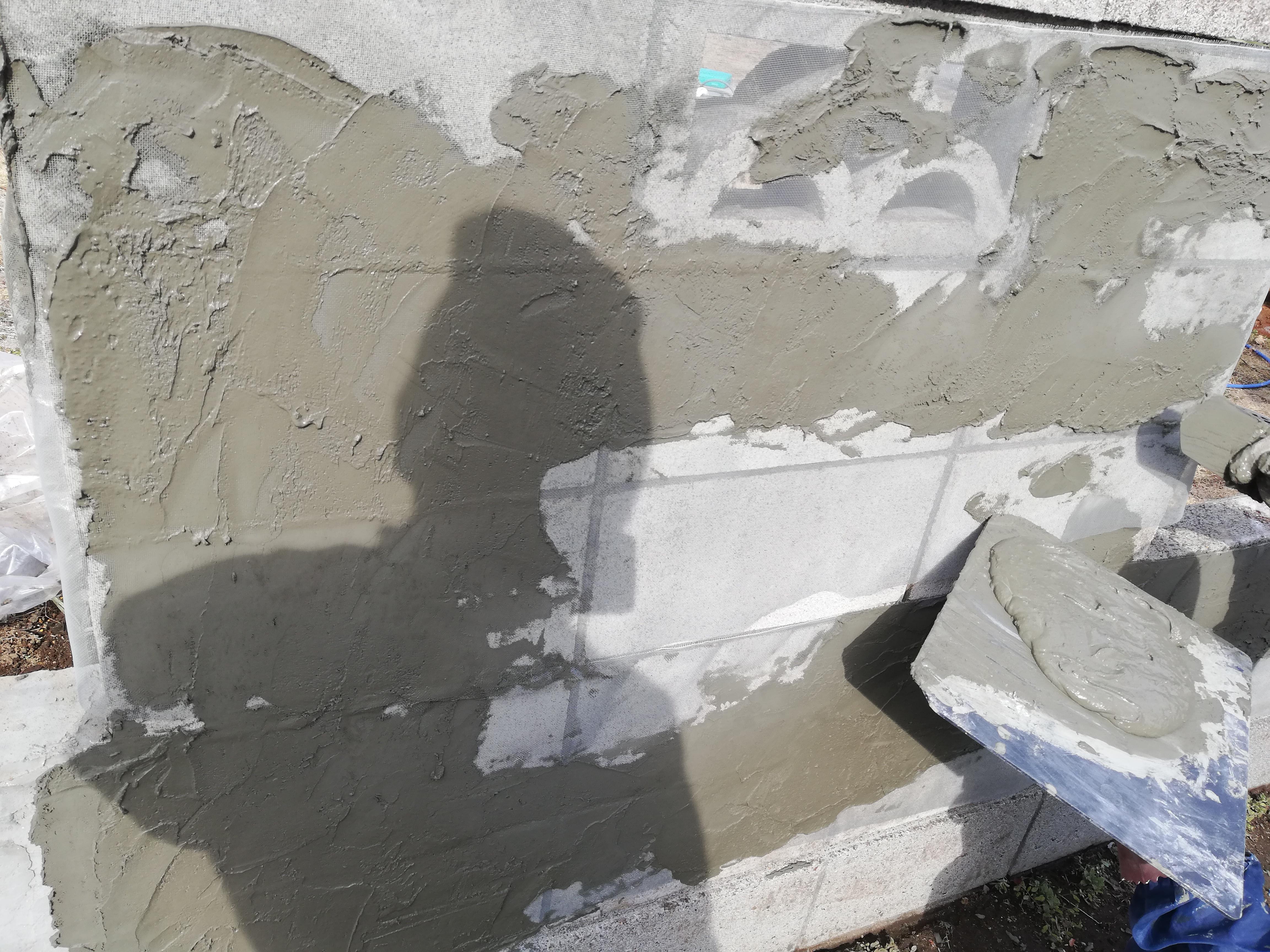 ブロック塀にモルタルを塗ってみよう!!