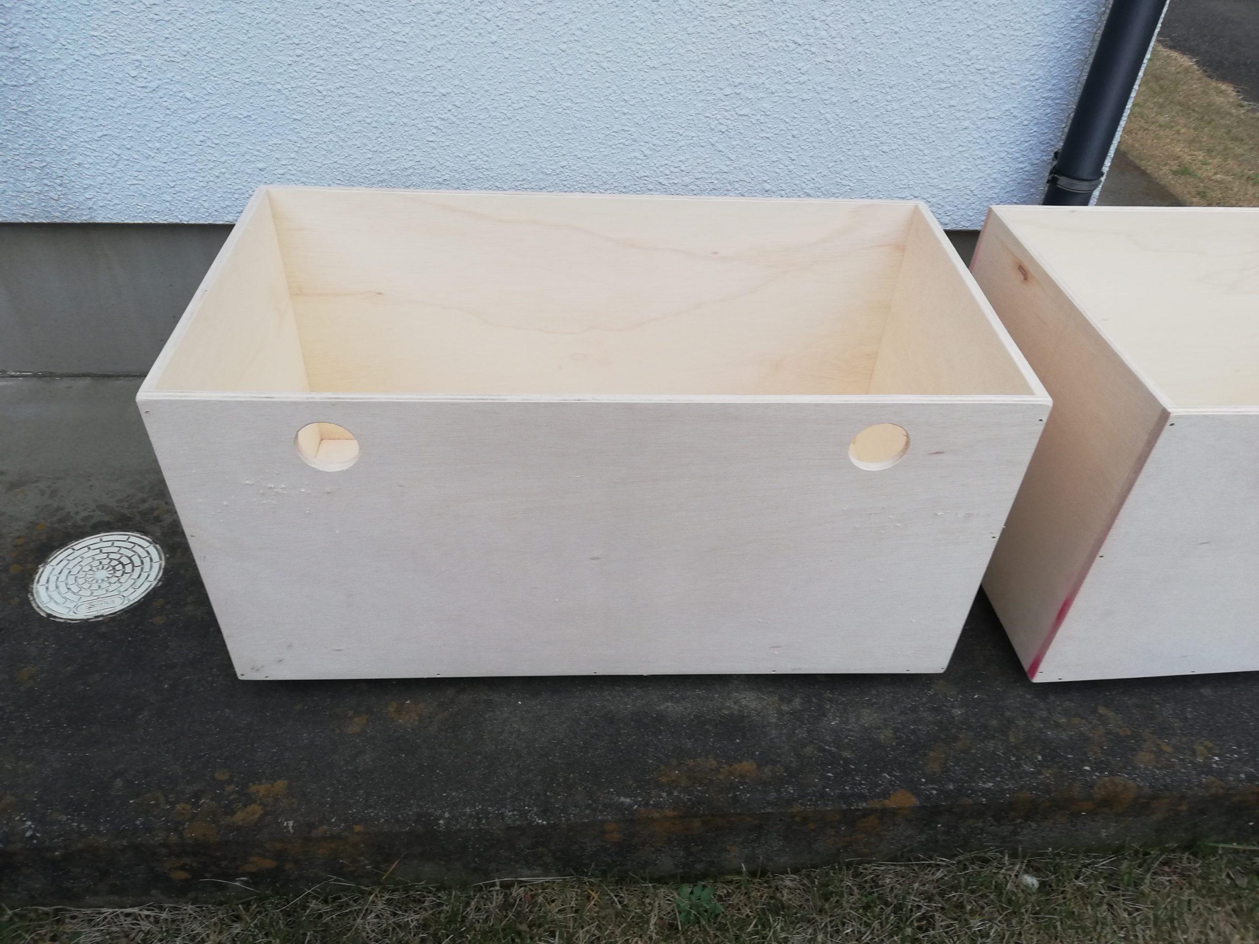 納戸の収納boxをDIY